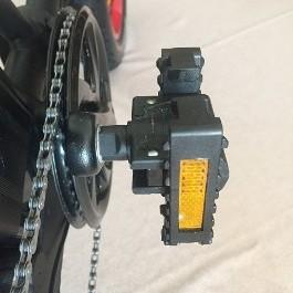 Pedal power on battery bike