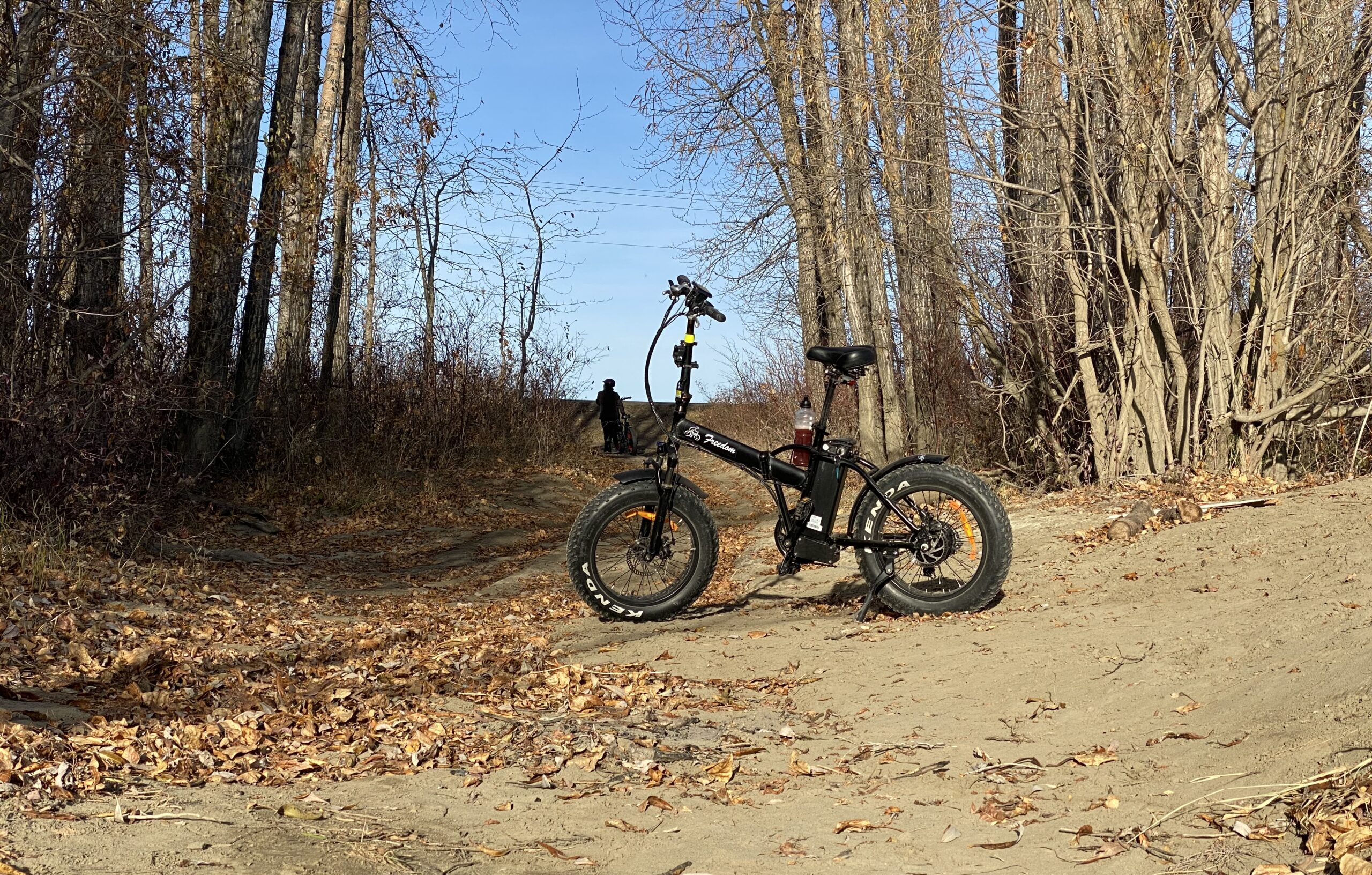 E-Bike on a trail